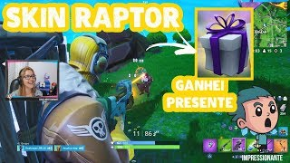 Fortnite-Skin Raptor and I won a gift from an enlisted