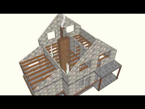 Дом  мансардным этажом