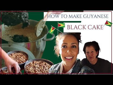 Making Guyanese Black Cake With My Aunt