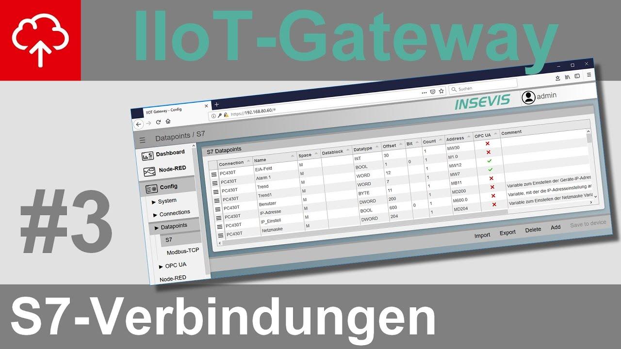 Iiot Gateway Verbindungen Und Datenpunkte Insevis Video Tutorials
