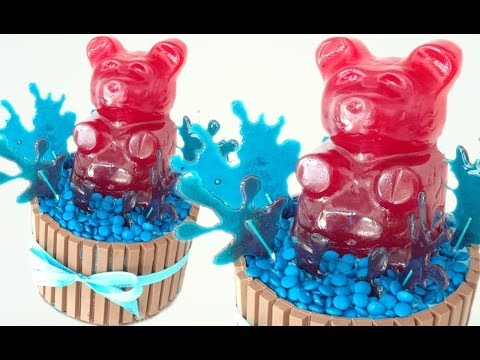 Giant Gummy Bear kitkat and m&m cake HOW TO COOK THAT Ann Reardon