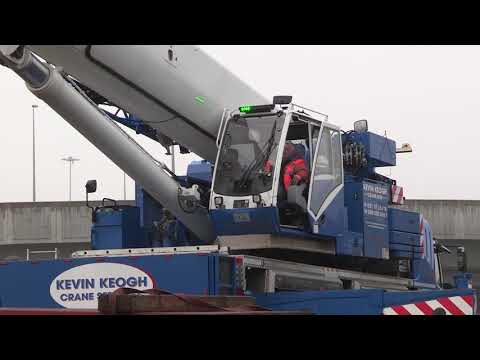 Kevin Keogh Crane Lift Canal Barge