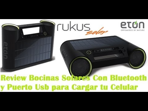 review eton rukus solar bocinas solares con bluetooth y. Black Bedroom Furniture Sets. Home Design Ideas
