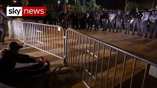 US election: Candidates react to Philadelphia protests after shooting of black male