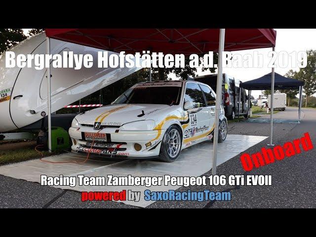 SRT - Bergrallye Hofstätten 2019 - Martin Zamberger - Peugeot 106 GTi EVOII 1,6 16v - Onboard