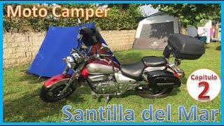 MOTO CAMPER Viaje en moto al Camping de SANTILLANA DEL MAR. 2ºParte. EXCURSION, COMIDA Y LLUVIA!