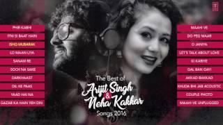 The best of arjit singh & neha kakkar songs 2016   audio   laughing world