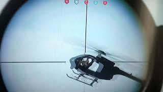 MODERN WARFARE. SNIPER VS HELICOPTER.
