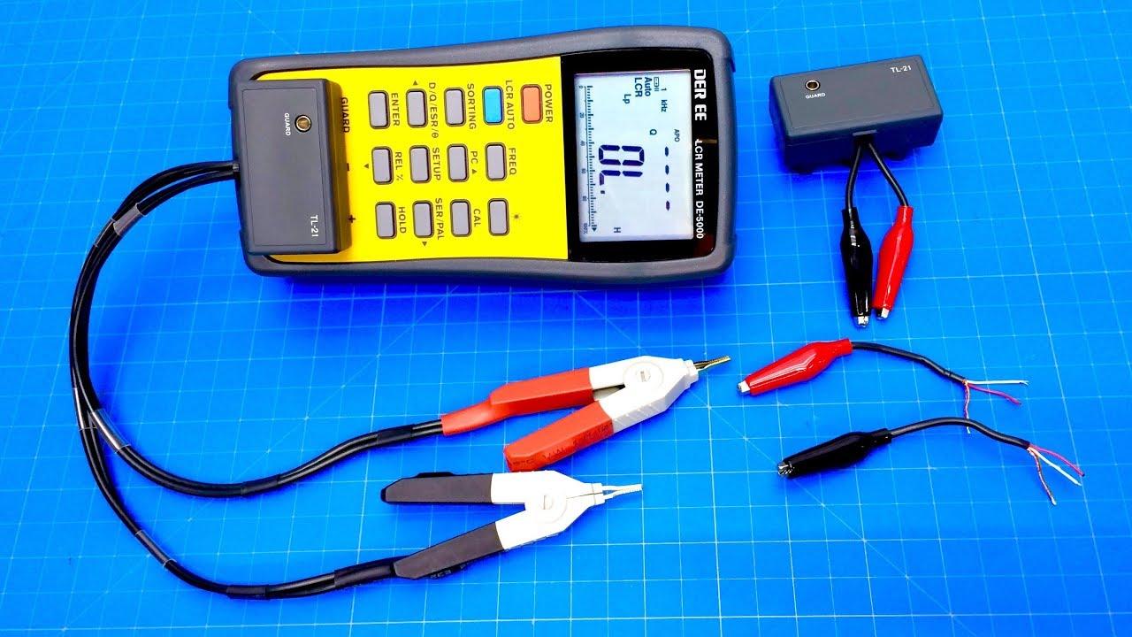 1set SMD Kelvin Test Clip 4 BNC Test Tweezer Probe Leads Câble pour LCR mètre DMM