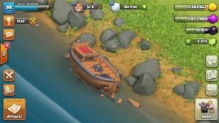 Clash of Clans update,broken boat