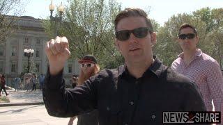 Interviews: Richard Spencer and Jack Posobiec Lead Pro-Bannon Flash Mob