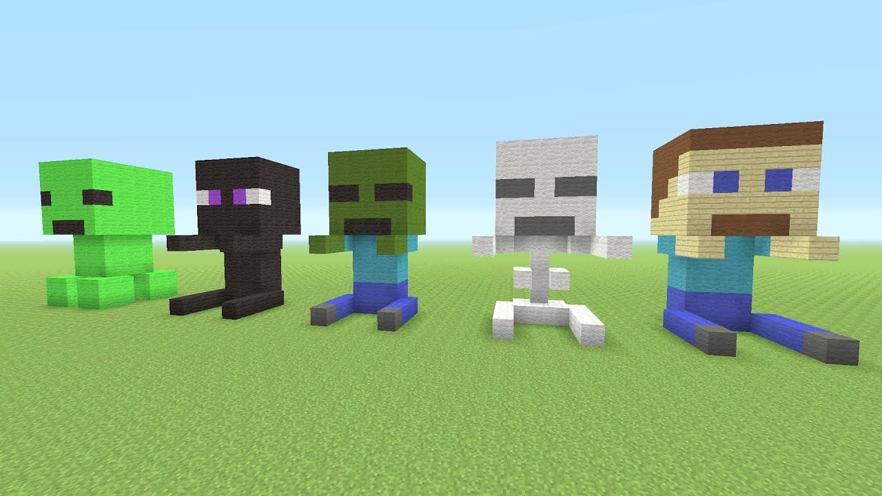 Minecraft Tutorial: How To Make Baby Minecraft MOB Statues