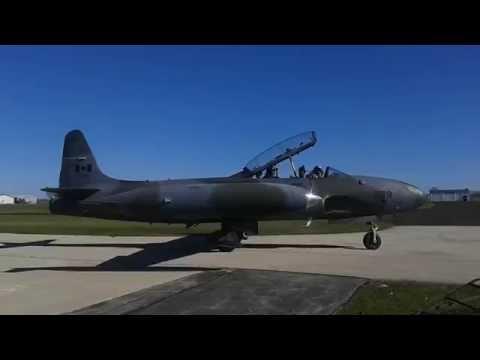 Lockheed T-33 Shooting Star Startup