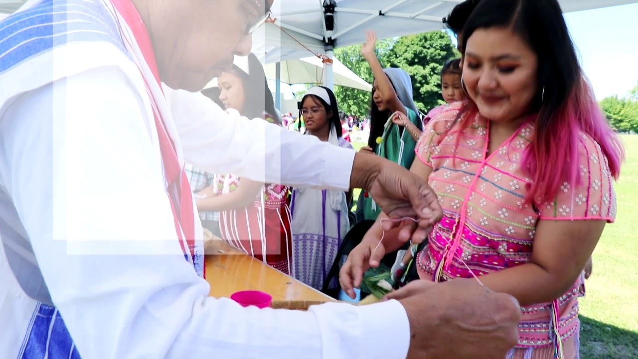 Making Buffalo Home   Karen Wrist Tying Ceremony