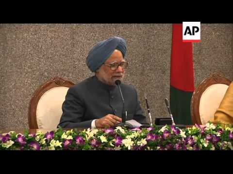 +4:3 Excerpts news conference by Singh and Hasina