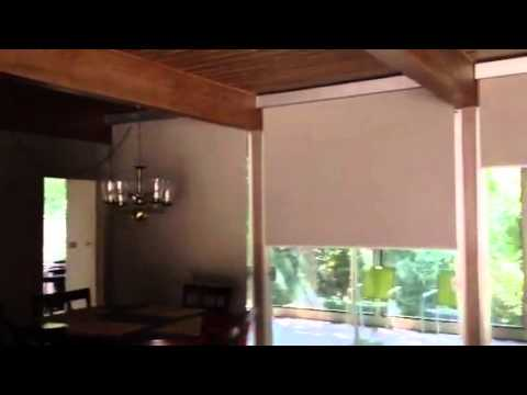 hunter douglas contract rb500 manual roller shades youtube