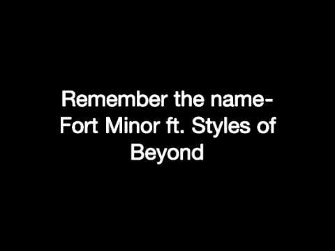 Remember The Name- Fort Minor ft. Styles Of Beyond