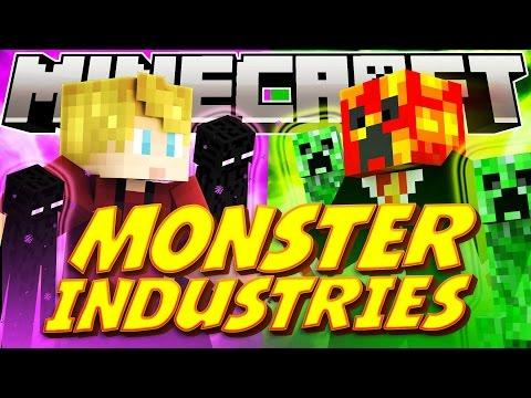 """Minecraft MONSTER INDUSTRY WARS! """"The Rematch"""" (Minecraft RTS Game) - w/Lachlan & Preston"""