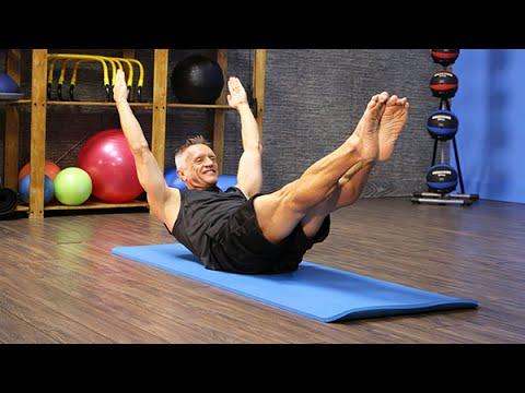 Pilates Mat Double Leg Stretch