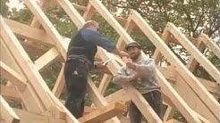 Fach-Werk. Bau der Scheune aus Oberbreisig