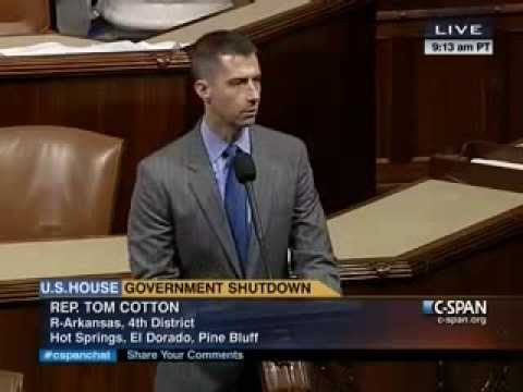October 1, 2013: Rep. Tom Cotton speaks on House Floor about Senate Democrats