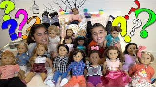 Blindfolded American Girl Doll Challenge | Grace's Room