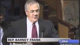 Barney Frank Does Not Believe a Housing Bubble Exists Although He Created it 2005