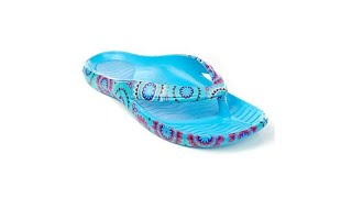 Tony Little Cheeks Printed Health Sandal with Gel Footbed