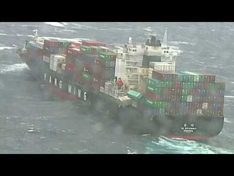 Cargo ship drops its load off Australian coast
