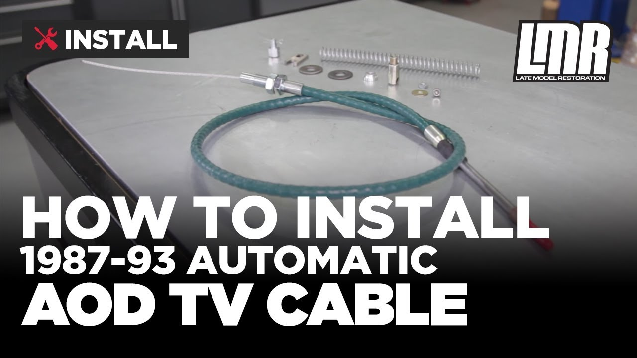 medium resolution of 1987 1993 mustang performance automatic aod tv cable install