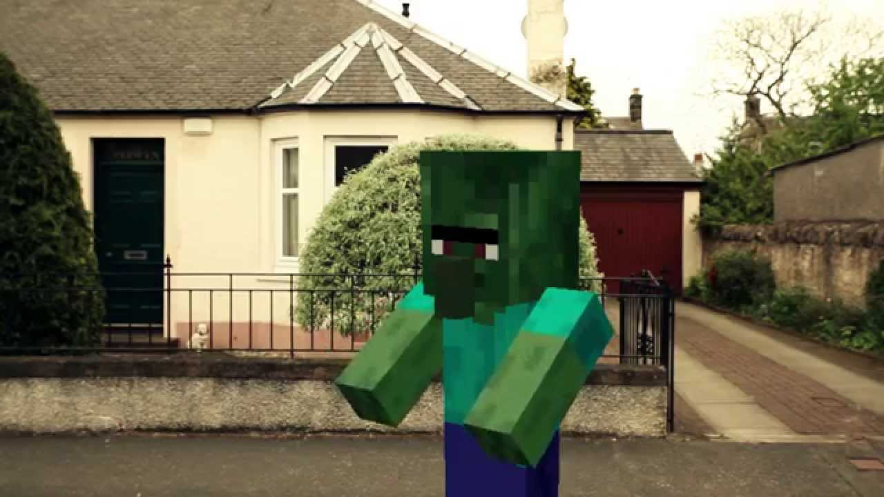 Minecraft Real Life Zombie Attack!! - YouTube