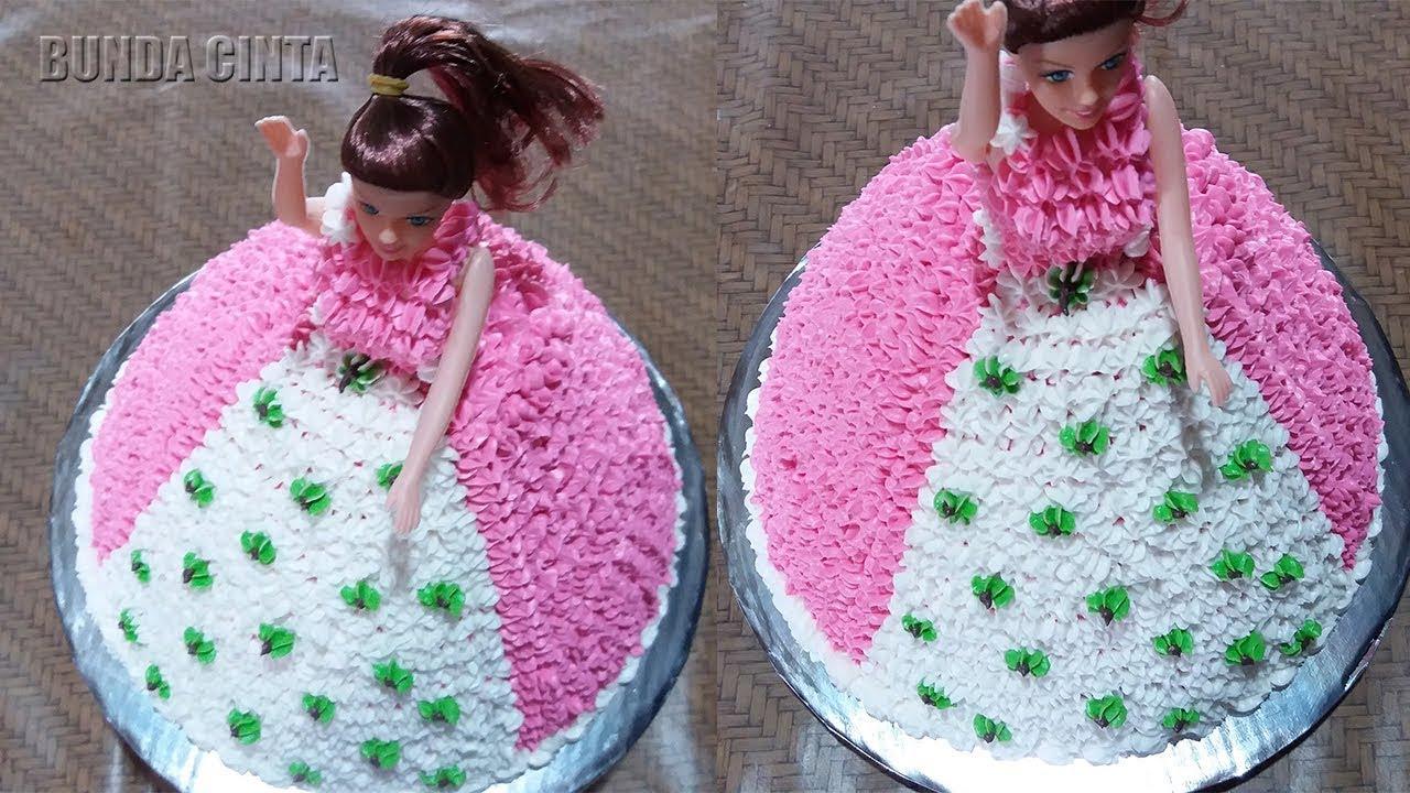 Cara Membuat Kue Ulang Tahun Barbie Sederhana