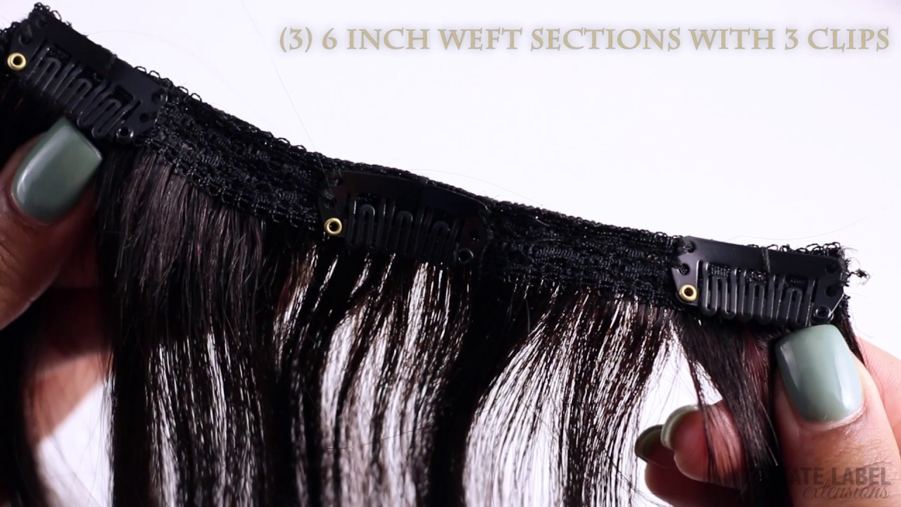 Natural Black Clip In Hair Extensions For Added Volume And Length In