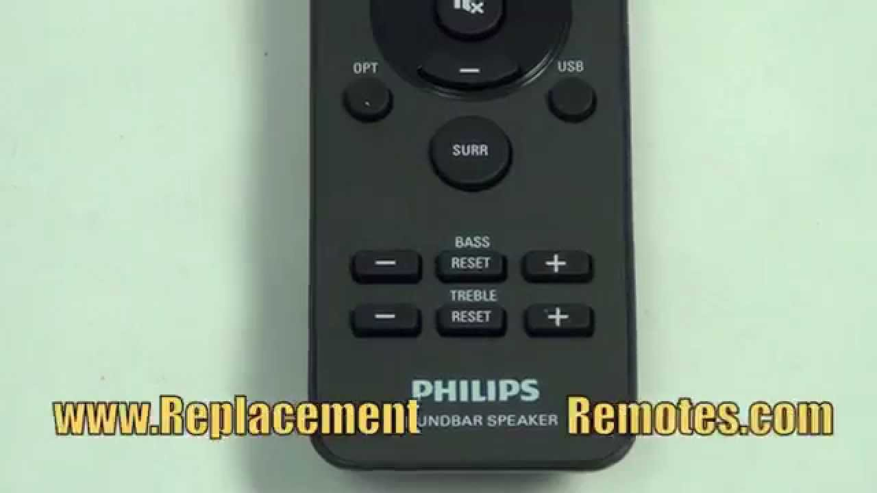 philips 996510059695 sound bar system remote www rh youtube com Philips Htl5110 F7 Soundbar Speaker Philips Sound Bar Manual