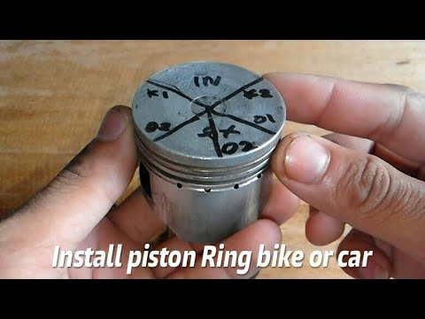 How to install piston ring 4 strokes motorcycle or car is