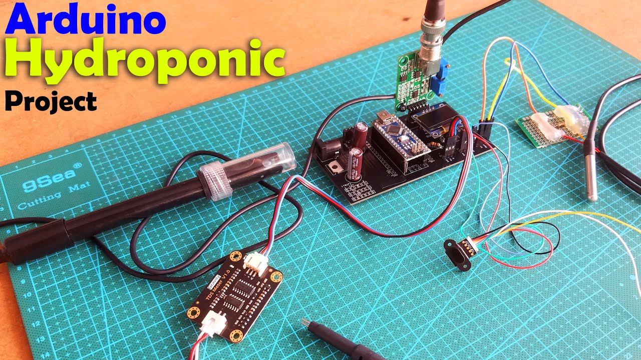 Download Arduino Hydroponics, DIY Hydroponics System using pH Sensor & EC Sensor, Hydroponic