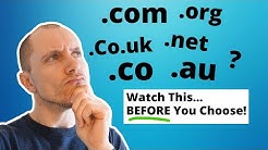 .Com, .Co, .Org, .Co.uk, .Net? Watch This Before Choosing Domain!