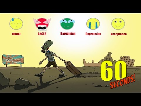 5 STAGES OF GRIEF CHALLENGE! | 60 Seconds Game