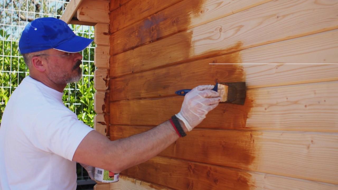 Come verniciare una casetta di legno ica for you youtube - Verniciare una porta in legno ...