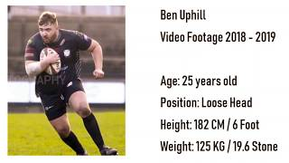 Ben Uphill Rugby Footage 2018 - 2019