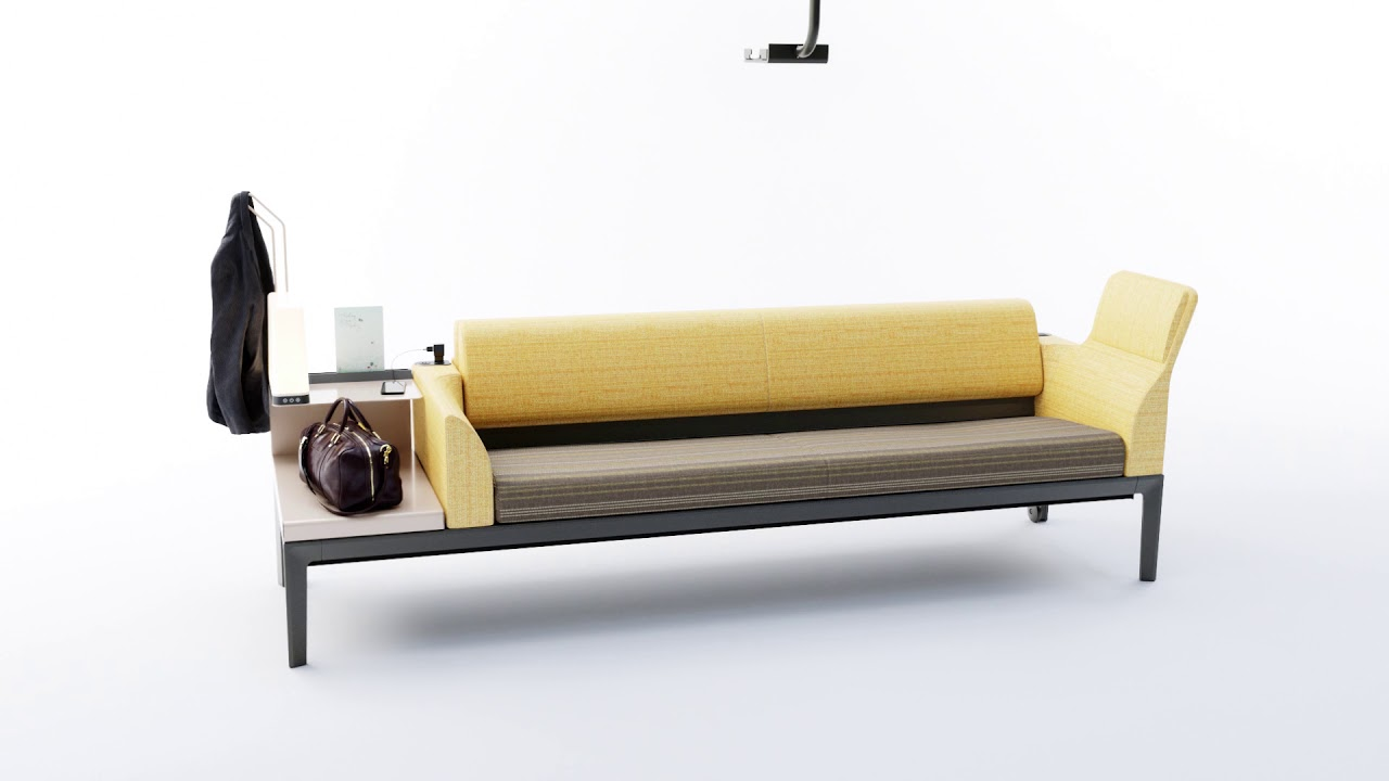 Sofa Arm Tray South Africa Surround Sleeper Sofa To Support Hospital Guests Steelcase