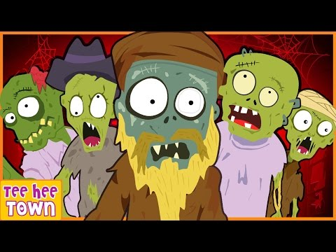 Five Scary Zombies | Spooky Nursery Rhymes for Kids | Skeletons Monsters & More by Teehee Town