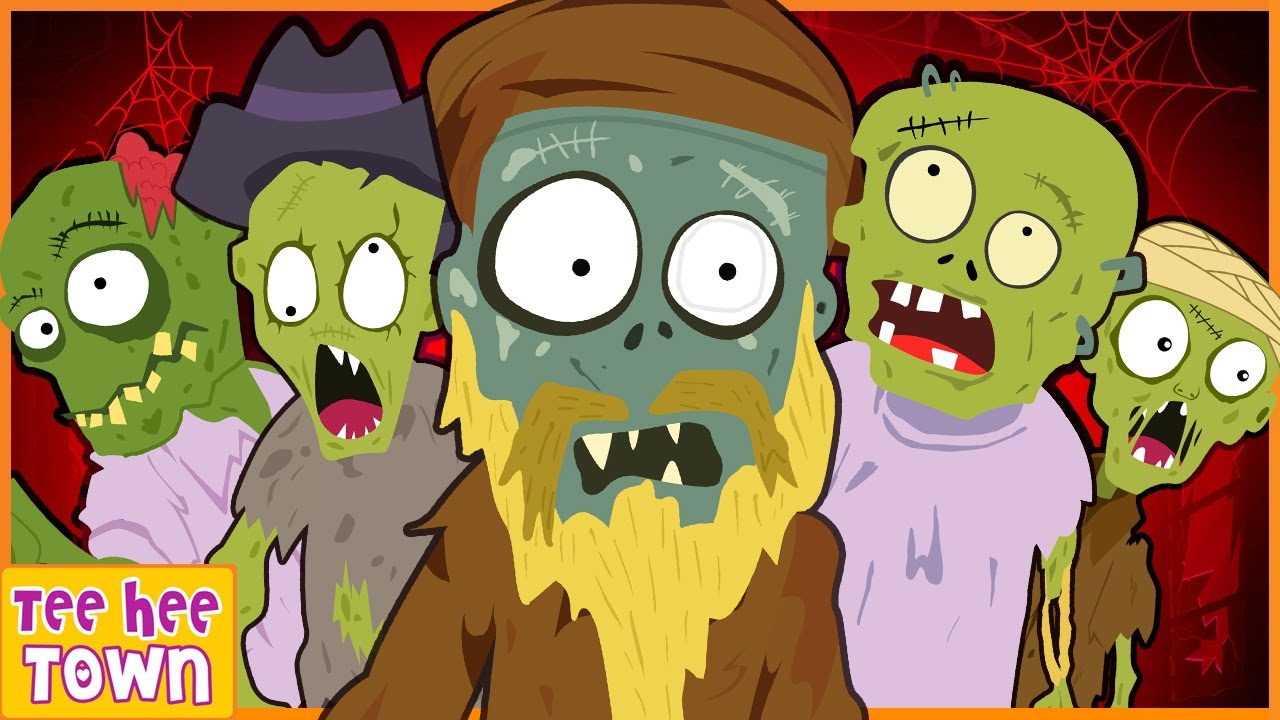 Five Scary Zombies Spooky Nursery Rhymes For Kids Skeletons Monsters More By Teehee Town Youtube