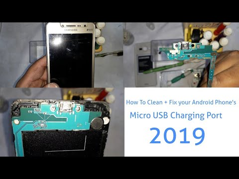 | How To Clean + Fix your Android Phone's Micro USB Charging Port 2019 |