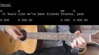 Jason Mraz More Than Friends feat Meghan Trainor EASY Guitar Tutorial With Chords Lyrics