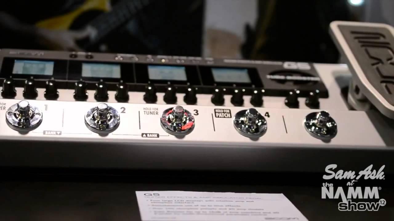 zoom g5 guitar effects amp simulator pedal sam ash at namm youtube. Black Bedroom Furniture Sets. Home Design Ideas