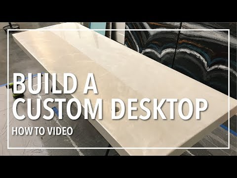 DIY Custom High End Desktop Build From Scratch using Leggari Epoxy Resin