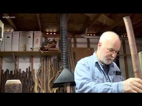 Hand-carved Walking Sticks Are Artistic Hiking Companions - KING 5 Evening