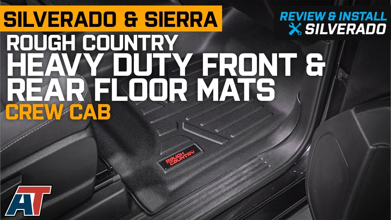 2014 2018 Silverado Sierra Crew Cab Rough Country Heavy Duty Floor Mats Review Install Youtube