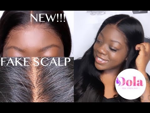 Glueless How To Fake Scalp Tutorial Easiest Wig Install Ft Dola Hair